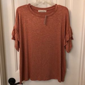 Apricot Dropped Sleeve Top